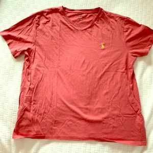 Polo by Ralph Lauren maroon v-neck Tee
